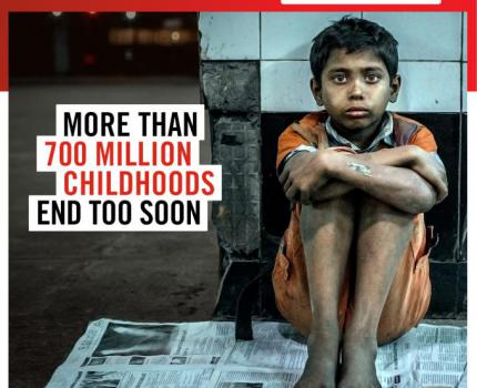 700 million children robbed of their childhood