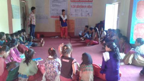 Janaki gives orientation to other children about child marriage