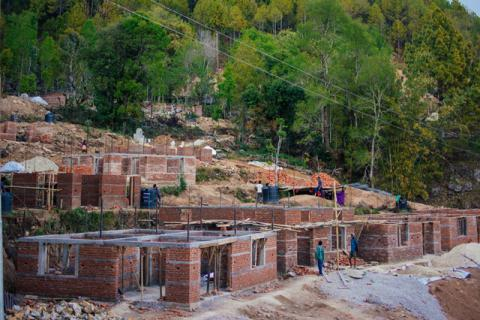 350 familes are building new and safer homes in Dansingh, Nuwakot. 250 families have received the second installment of the building fund.