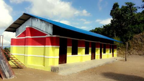 Newly constructed classroom