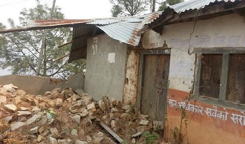 Shanti Buddha school old building destroyed by the earthquake
