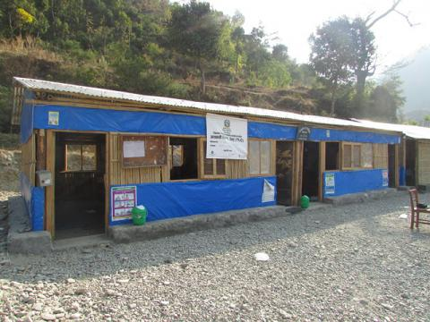 temporary learning center at Shanti Budha